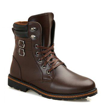 Men 'S Shoes Fashion Martin Boots High Boots - BROWN 43