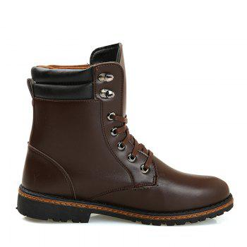 Men 'S Shoes Fashion Martin Boots High Boots - BROWN 44