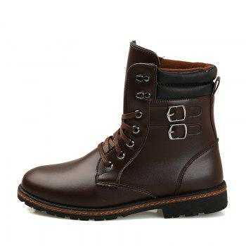 Men 'S Shoes Fashion Martin Boots High Boots - BROWN 41