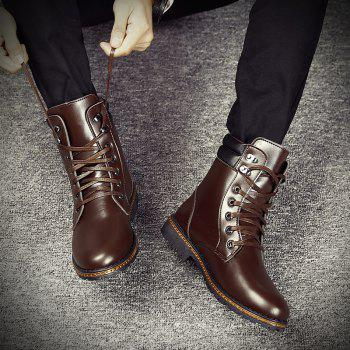 Men 'S Shoes Fashion Martin Boots High Boots - BROWN BROWN