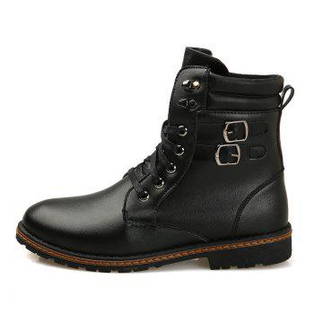 Men 'S Shoes Fashion Martin Boots High Boots - BLACK BLACK