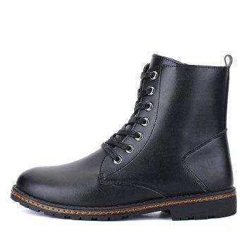 Men's Casual England Ankle Boots - BLACK 43