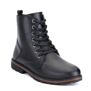 Men's Casual England Ankle Boots - BLACK BLACK