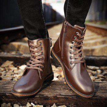 Men's Casual England Ankle Boots - BROWN 43
