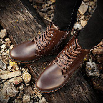 Men's Casual England Ankle Boots - BROWN BROWN