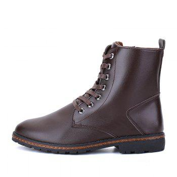 Men's Casual England Ankle Boots - BROWN 39