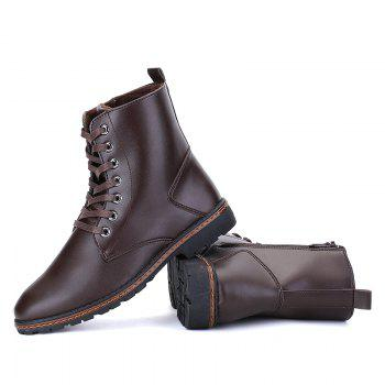 Men's Casual England Ankle Boots - BROWN 40