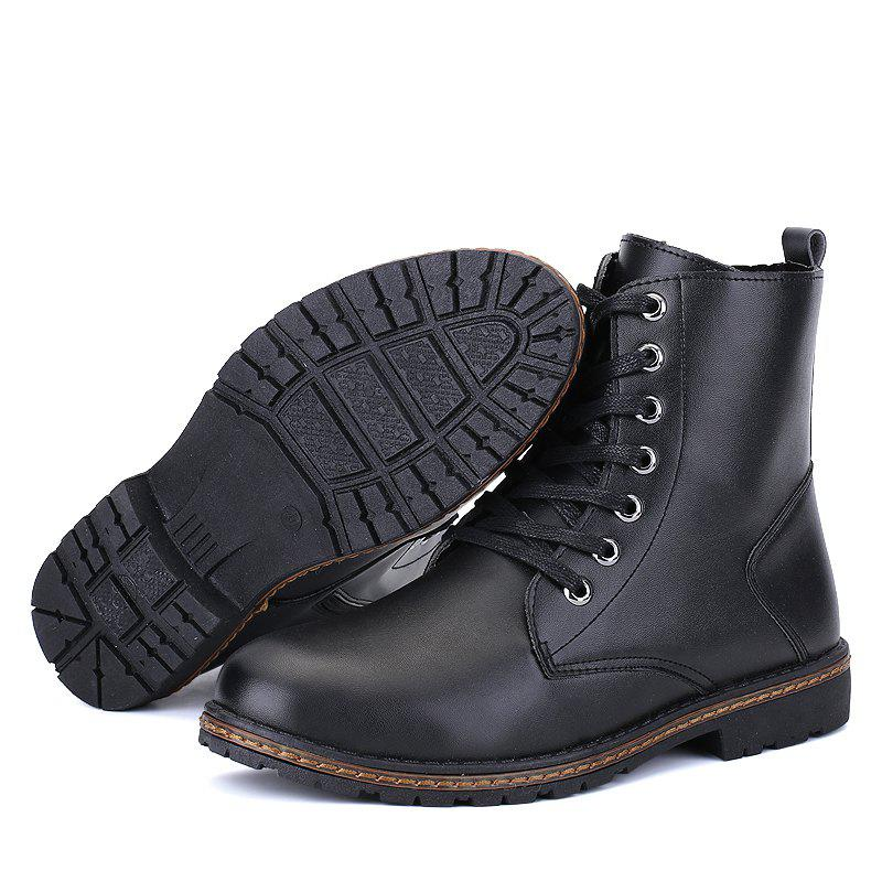 Men's Casual England Ankle Boots - BLACK 40