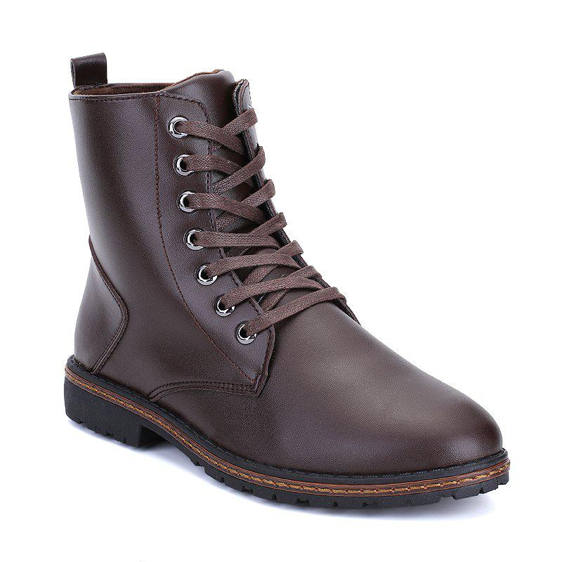 Men's Casual England Ankle Boots - BROWN 41