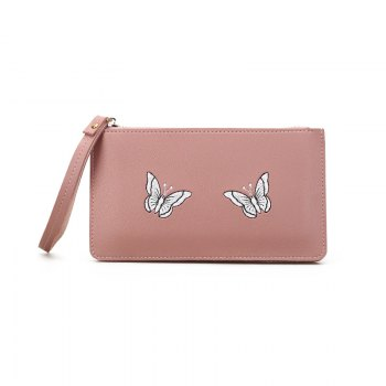Ladies Fashion Casual  PU Leather Wallet for Women - PINK PINK