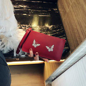 Ladies Fashion Casual  PU Leather Wallet for Women - RED