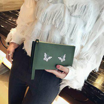 Ladies Fashion Casual  PU Leather Wallet for Women - GREEN