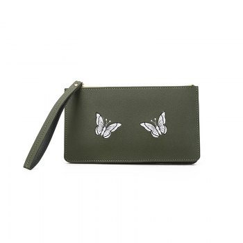 Ladies Fashion Casual  PU Leather Wallet for Women - GREEN GREEN