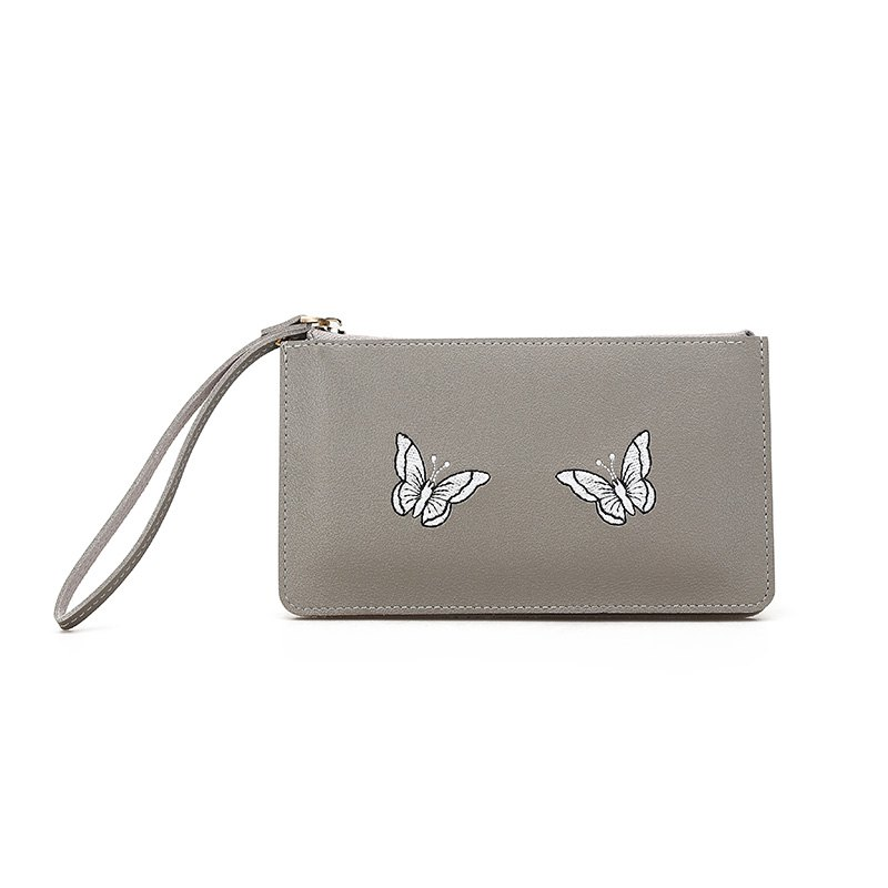 Ladies Fashion Casual  PU Leather Wallet for Women - GRAY