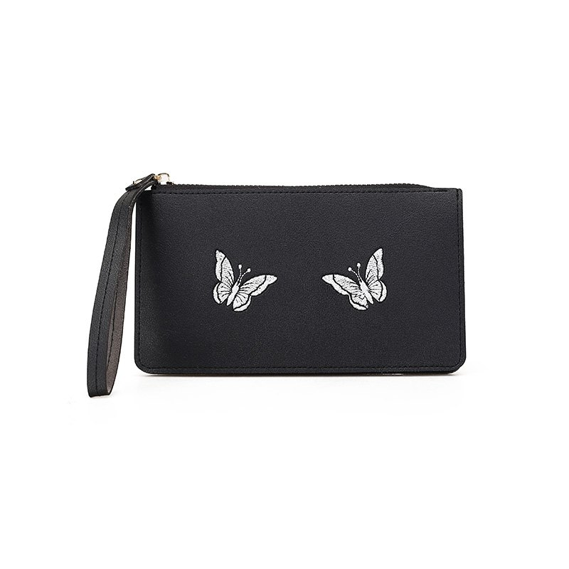 Ladies Fashion Casual  PU Leather Wallet for Women - BLACK