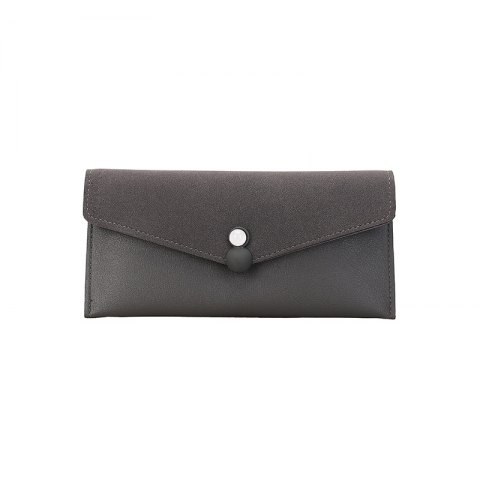 Womens Wallet pu Leather Blocking Purse Credit Card Clutch - GRAY