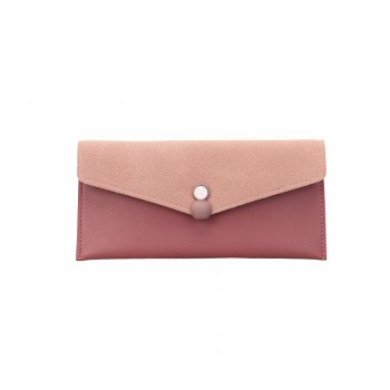 Womens Wallet pu Leather Blocking Purse Credit Card Clutch - PINK PINK