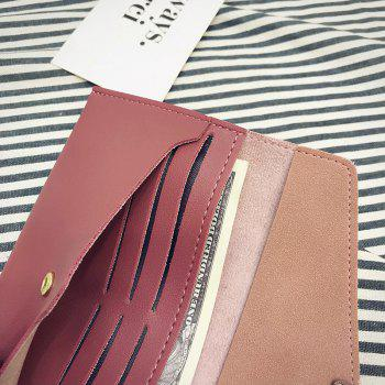 Womens Wallet pu Leather Blocking Purse Credit Card Clutch -  PINK