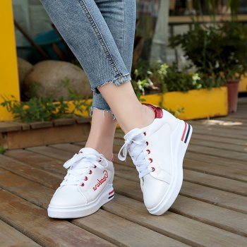 Autumn New White Shoes Women's Bottom Sports Shoes - AMERICAN BEAUTY 38