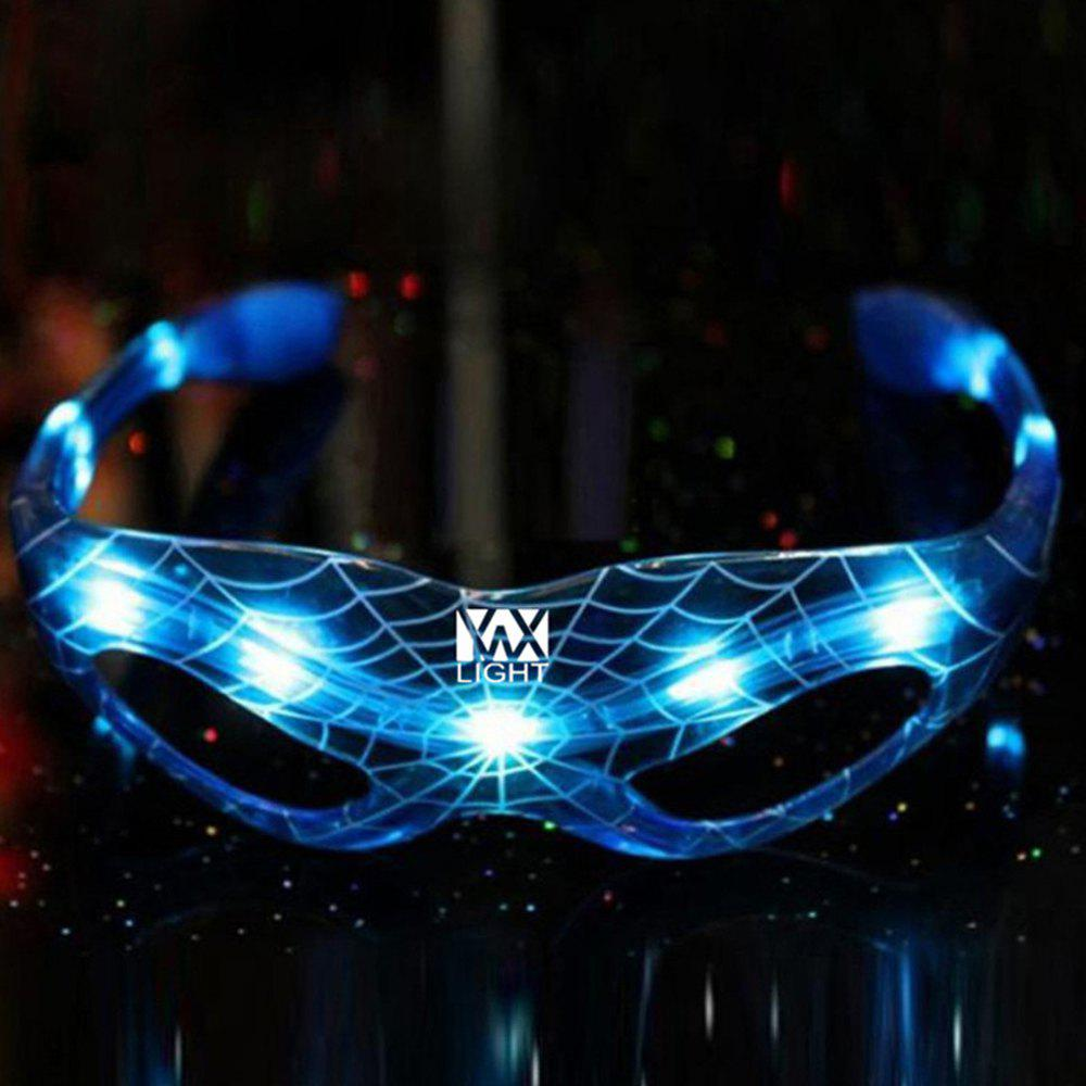 YWXLight LED Spider Man Glasses Luminous Halloween Party Decoration Supplies plastic standing human skeleton life size for horror hunted house halloween decoration