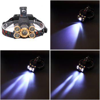 U`King ZQ - X844 4000LM Cree T6 Plus Q5 Rechargeable Phare Zoomable 4 Mode - Noir et Or
