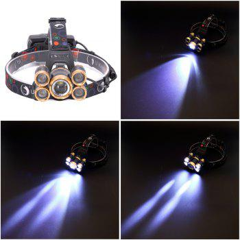 U`King Zq - X841 4000lm Lampe Torche Rechargeable 5-Led Pivotante Zoomable - Noir et Or