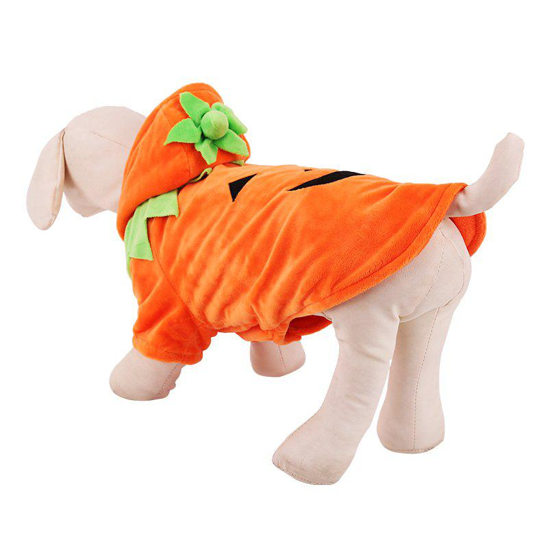 Lovoyager Lvc1701 Halloween Dogs Decorate Cute Pumpkin Dresses - ORANGE XS