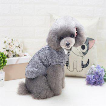 Lovyager A79 Dog Clothing Pet Clothes Import Dog Clothes China Polar Fleece Dog Sweater - GRAY M