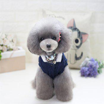 Lovyager A79 Dog Clothing Pet Clothes Import Dog Clothes China Polar Fleece Dog Sweater - BLUE BLUE