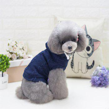 Lovyager A79 Dog Clothing Pet Clothes Import Dog Clothes China Polar Fleece Dog Sweater - BLUE L