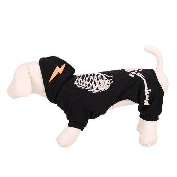 Lovoyager LVC1702 Festival Hallowen Skulls Are Decorated with Dogs - BLACK XL