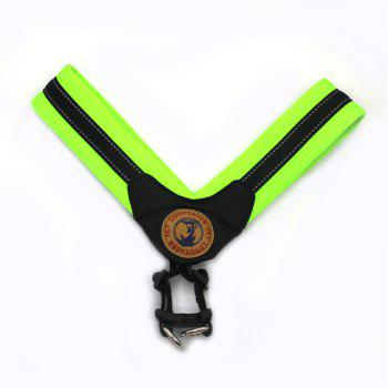 Lovoyager LVH16004 Reflective Small Large Dog Harness Portable Pet Dog Training Vest Collar with Bright Color S To L - GREEN GREEN