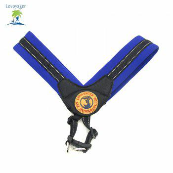 Lovoyager LVH16004 Reflective Small Large Dog Harness Portable Pet Dog Training Vest Collar with Bright Color S To L - DEEP BLUE DEEP BLUE
