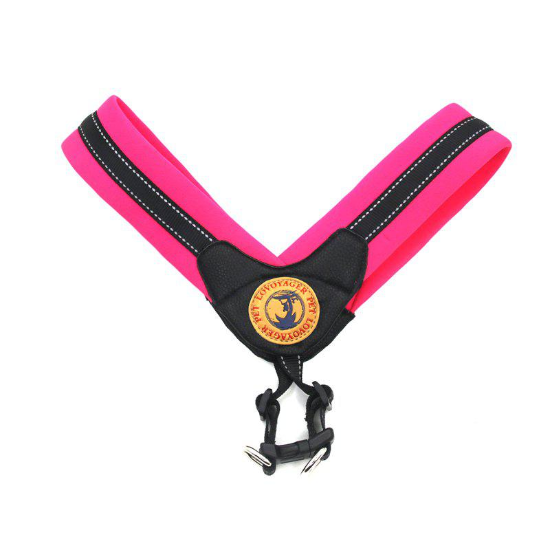 Lovoyager LVH16004 Reflective Small Large Dog Harness Portable Pet Dog Training Vest Collar with Bright Color S To L - ROSE RED S