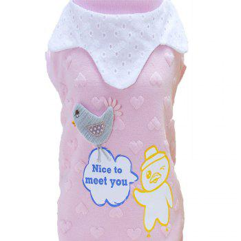 Lovoyager A714 Peach-Heart Bird-Dog Cotton Clothes - M M