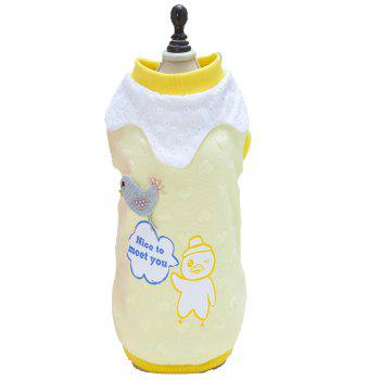 Lovoyager A714 Peach-Heart Bird-Dog Cotton Clothes - YELLOW YELLOW
