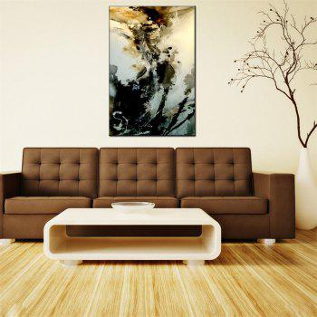 Hua Tuo Abstract Oil Painting 60 x 90cm OSR-160301 - BLACK AND ORANGE 24 X 36 INCH (60CM X 90CM)