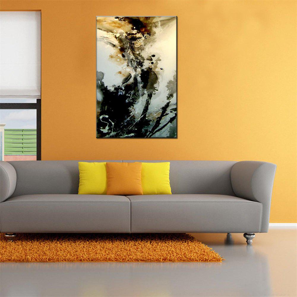 Hua Tuo Abstract Oil Painting 60 x 90cm OSR-160301 - BLACK/ORANGE 24 X 36 INCH (60CM X 90CM)