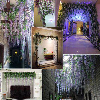 12 Branch Wisteria Wedding Decorate Home Decorate Artificial Flower 105CM - ROSE RED