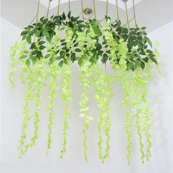 12 Branch Wisteria Wedding Decorate Home Decorate Artificial Flower 105CM -  GREEN