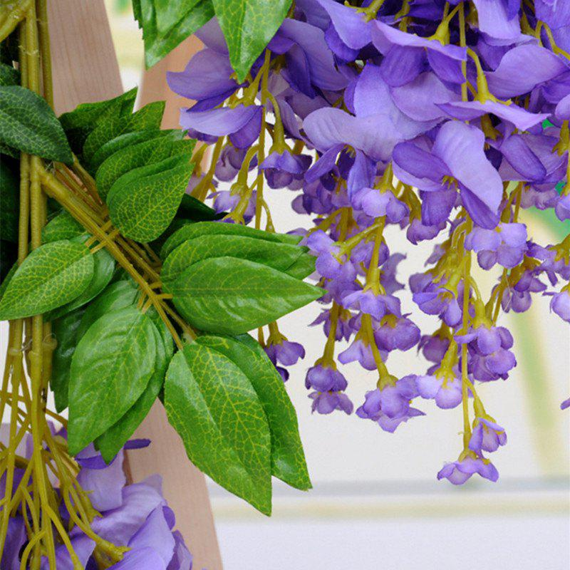 12 Branch Wisteria Wedding Decorate Home Decorate Artificial Flower 105CM - PURPLE