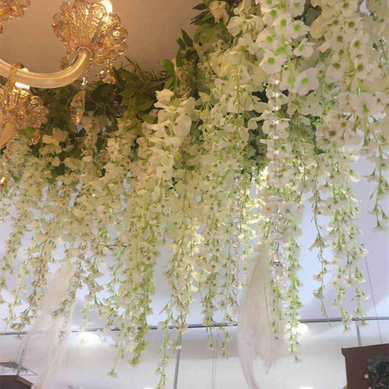 12 Branch Wisteria Wedding Decorate Home Decorate Artificial Flower 105CM - WHITE