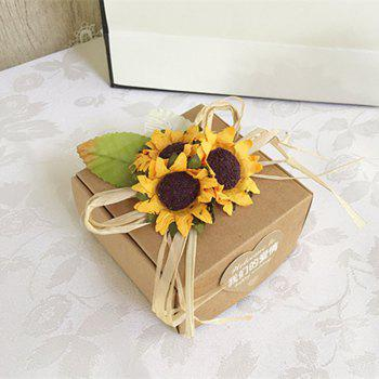 XM 10 Heads Mini Sunflower DIY Accessories Artificial Flowers 8CM - YELLOW