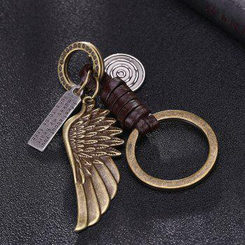Men'S Key Ring Angel Wings Simple Retro Design Key Ring Accessory - BRONZED 1PC