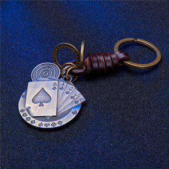 Men'S Key Ring Fashion Durable Lightweight Poker Key Ring Accessory -  BRONZED