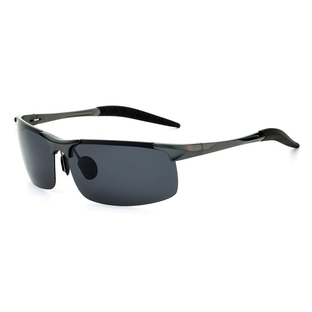 TOMYE 8177 Outdoor Sports Polarized Lens Neutral Sunglasses - GUN METAL