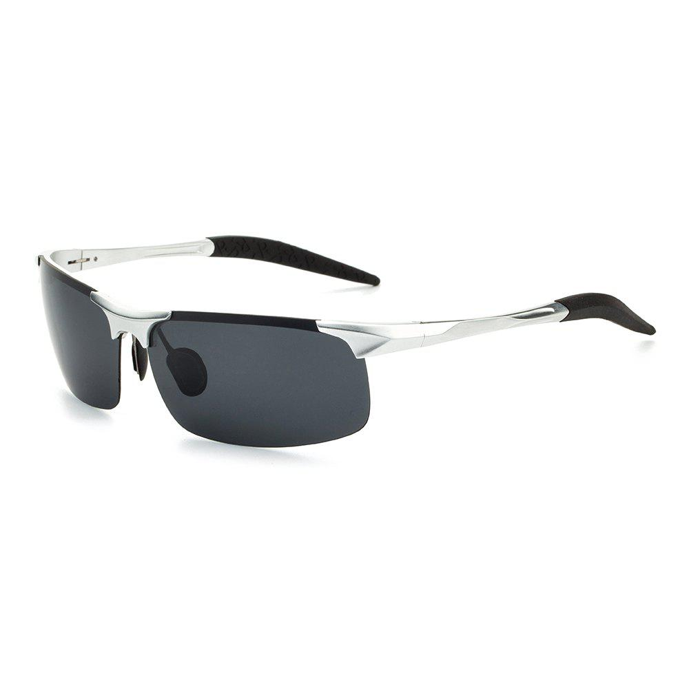 TOMYE 8177 Outdoor Sports Polarized Lens Neutral Sunglasses - SILVER