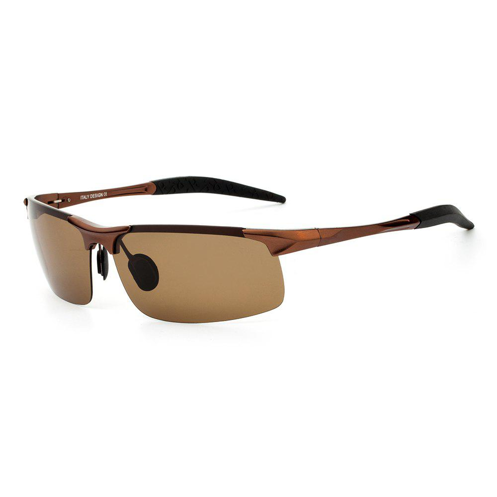 TOMYE 8177 Outdoor Sports Polarized Lens Neutral Sunglasses - TEA COLORED