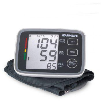 Warmlife Automatic Digital Upper Arm Blood Pressure Monitor with Cuff Fda Approved (White with Black Face) - GREY/WHITE