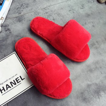 European Style Lady Slippers Warm Plush Autumn And Winter Indoor Home Cotton Slippers - 38 38